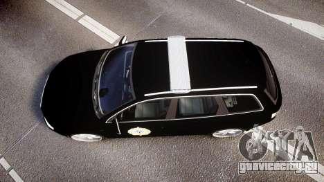 Audi S4 Avant Serbian Police [ELS] для GTA 4 вид справа