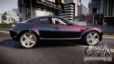 Mazda RX-8 2006 v3.2 Pirelli tires для GTA 4 вид слева