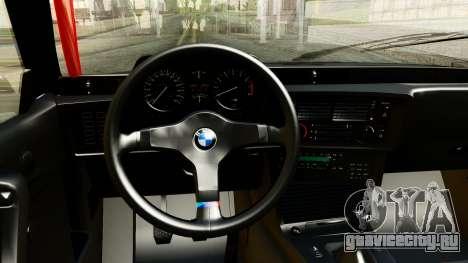 BMW M635CSi E24 1984 для GTA San Andreas вид сзади