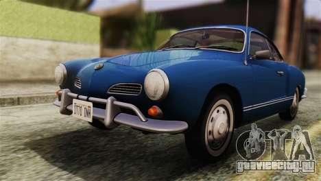 Volkswagen Karmann-Ghia Coupe (Typ 14) 1955 HQLM для GTA San Andreas