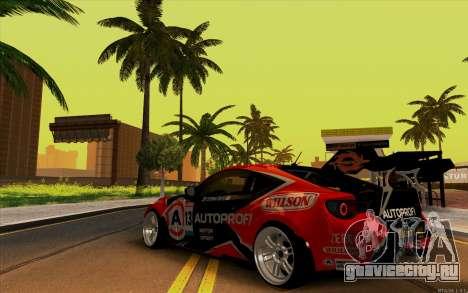Toyota GT86 ZeroZver для GTA San Andreas вид справа