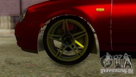 Lada Priora Sedan для GTA San Andreas вид сзади слева