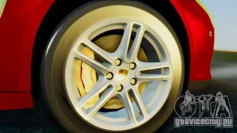 Porsche Panamera Turbo 2010 для GTA San Andreas вид сзади слева