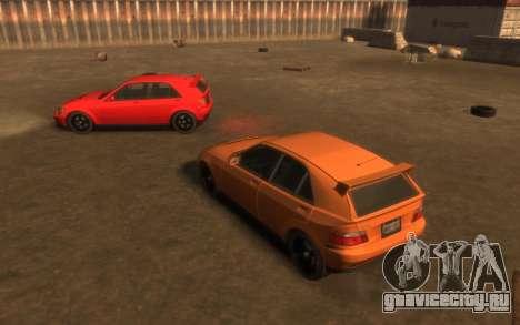 Karin Sultan Hatchback v2 для GTA 4 вид изнутри