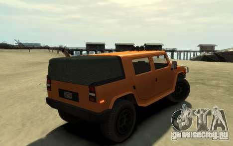 Mammoth Patriot Pickup v2 для GTA 4 вид сзади слева