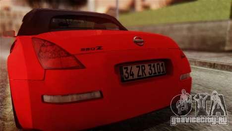 Nissan 350Z для GTA San Andreas вид изнутри