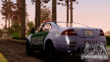 GTA 5 Vapid Police Interceptor v2 SA Style для GTA San Andreas вид слева