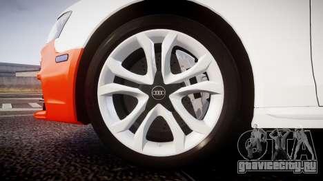 Audi S4 Avant Belgian Police [ELS] orange для GTA 4 вид сзади