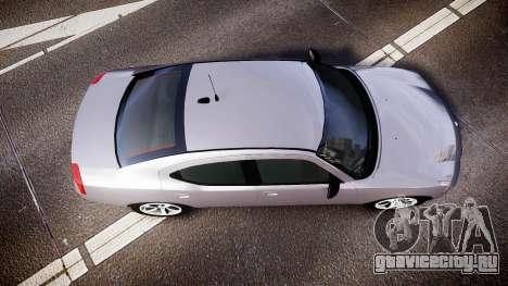 Dodge Charger Police Unmarked [ELS] для GTA 4 вид справа