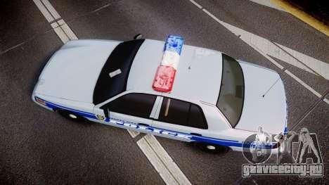 Ford Crown Victoria Liberty Police [ELS] для GTA 4 вид справа