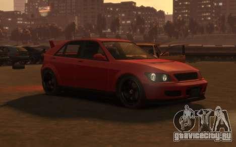 Karin Sultan Hatchback v2 для GTA 4 вид слева