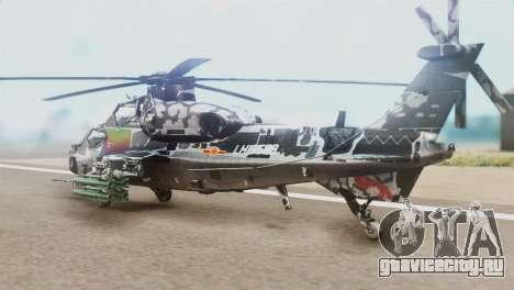 Changhe WZ-10 для GTA San Andreas вид слева