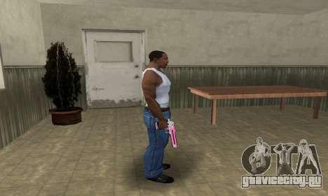 Pink Deagle для GTA San Andreas третий скриншот