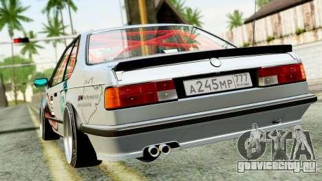 BMW M635CSi E24 1984 для GTA San Andreas вид сзади слева