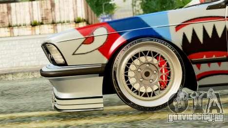 BMW M635CSi E24 1984 для GTA San Andreas вид справа