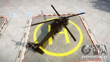Sikorsky MH-60L Black Hawk [EPM] для GTA 4 вид сзади слева