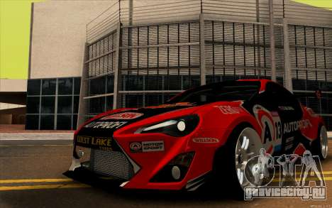 Toyota GT86 ZeroZver для GTA San Andreas вид сзади слева