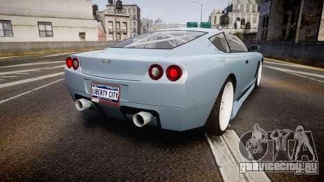 Dewbauchee Super GT Tuning для GTA 4 вид сзади слева