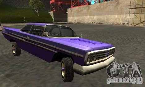 Luni Voodoo Remastered для GTA San Andreas вид изнутри