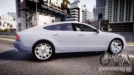 Audi A7 для GTA 4 вид слева