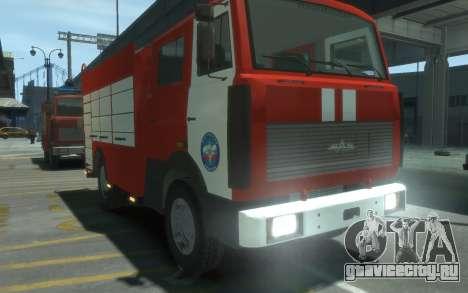 МАЗ 533702 МЧС России для GTA 4 вид справа