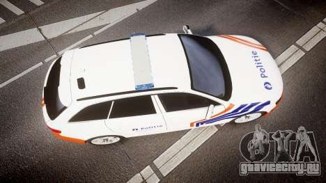 Audi S4 Avant Belgian Police [ELS] orange для GTA 4 вид справа