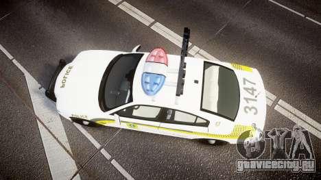 Dodge Charger Surete Du Quebec [ELS] для GTA 4 вид справа