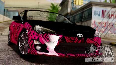Toyota GT86 (ZN6) 2012 PJ для GTA San Andreas вид сбоку