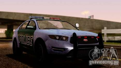 GTA 5 Vapid Police Interceptor v2 SA Style для GTA San Andreas вид сзади