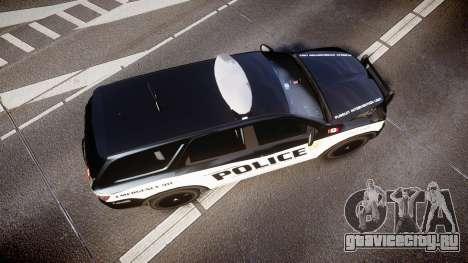 Dodge Durango Alderney Police для GTA 4 вид справа