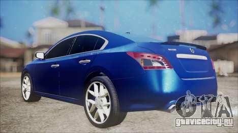 Nissan Maxima 2009 для GTA San Andreas вид сзади слева