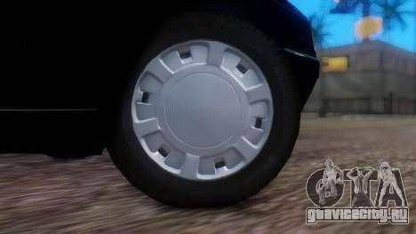 Peugeot 405 GLX Police для GTA San Andreas вид сзади слева