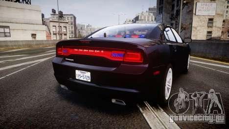 Dodge Charger SWAT Tactical Unit [ELS] rbl для GTA 4 вид сзади слева