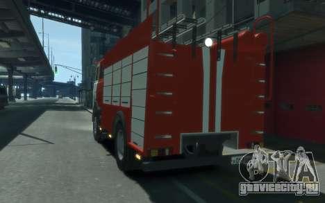 МАЗ 533702 МЧС России для GTA 4 вид сзади слева