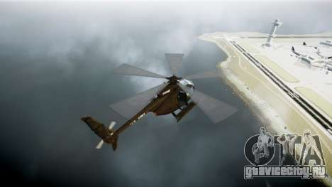MH-6 Little Bird для GTA 4 вид сзади слева