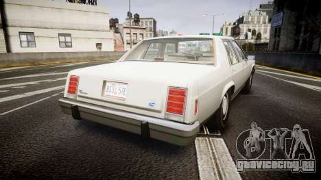 Ford LTD Crown Victoria 1987 Detective [ELS] для GTA 4 вид сзади слева