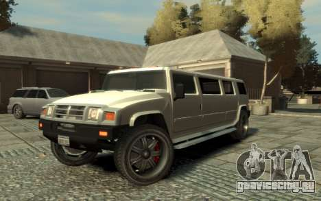 Mammoth Patriot Limousine для GTA 4 вид сбоку