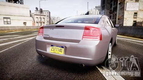 Dodge Charger Police Unmarked [ELS] для GTA 4 вид сзади слева