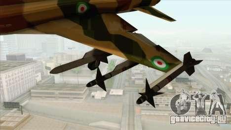 Northrop F-5ES IRIAF для GTA San Andreas вид справа
