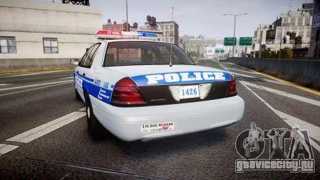 Ford Crown Victoria Liberty Police [ELS] для GTA 4 вид сзади слева