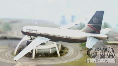 Airbus A320-200 British Airways для GTA San Andreas вид слева