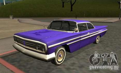 Luni Voodoo Remastered для GTA San Andreas вид слева