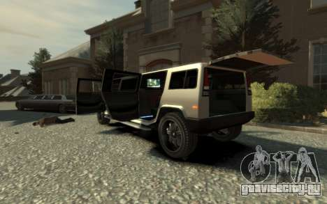 Mammoth Patriot Limousine для GTA 4 вид изнутри