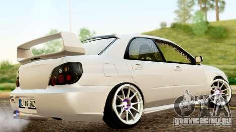 Subaru Impreza WRX STI Stance для GTA San Andreas вид сзади слева