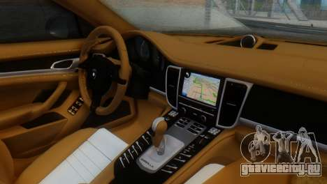 Porsche Panamera Turbo для GTA San Andreas вид справа