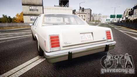 Ford LTD Crown Victoria 1987 Detective [ELS] v2 для GTA 4 вид сзади слева