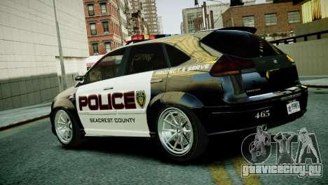 Subaru Impreza WRX STI Police для GTA 4 вид слева