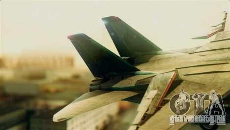 F-14D VF-213 Black Lions для GTA San Andreas вид сзади слева