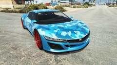 Dinka Jester (Racecar) Camo Blue для GTA 5
