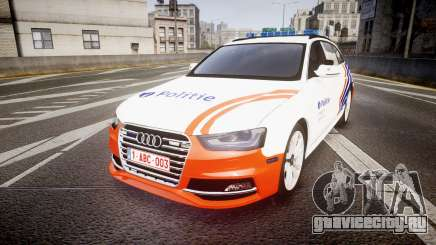 Audi S4 Avant Belgian Police [ELS] orange для GTA 4